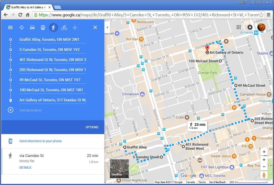 Artist's Walk Map