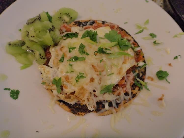 Fried egg tortilla salsa