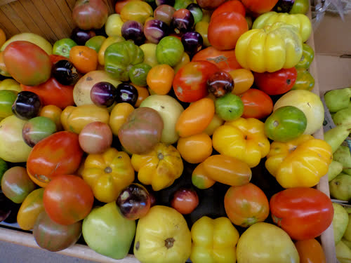 Heirloom tomatoes at Sweet Potato Sept 2018