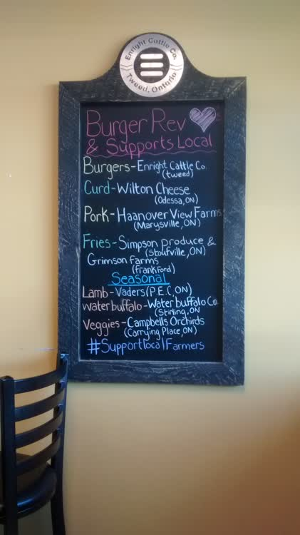 Burger revolution menu